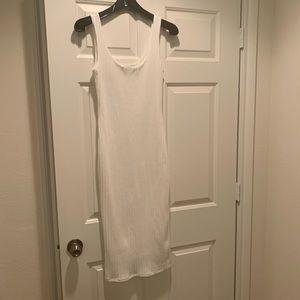 Fashion Nova Dresses - Fashion Nova White Ribbed Midi Dress